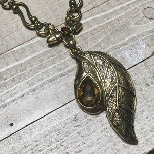 Vintage Abstract Gold Toned Pendant Necklace